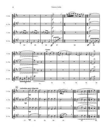 SATB Sax Quartet | Cancion Arabe by Granados