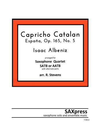 SATB or AATB Sax Quartet | Capricho Catalan by Albeniz