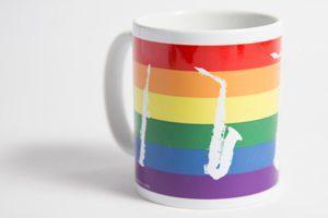 Saxophone Gifts Rainbow Pride Mug