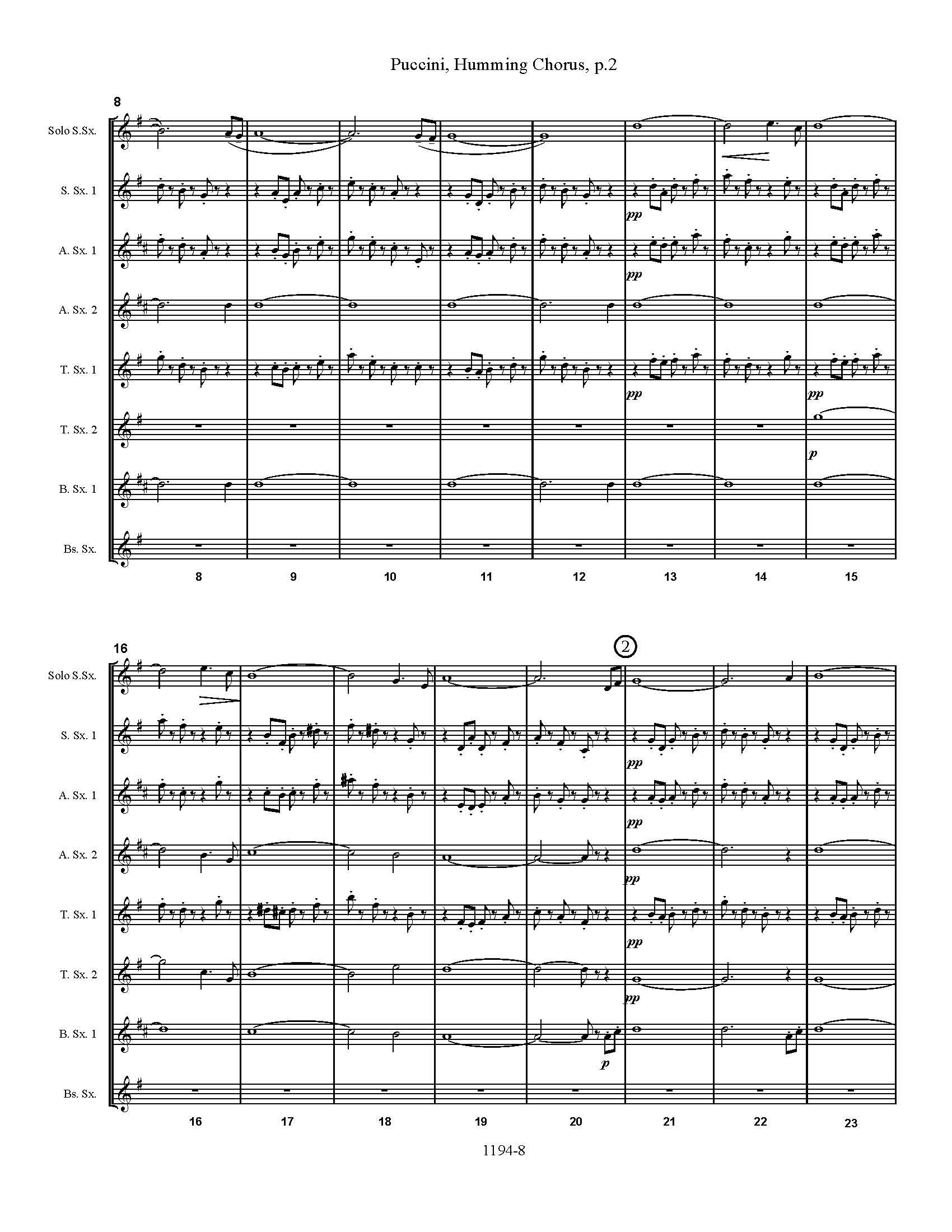 Puccini score