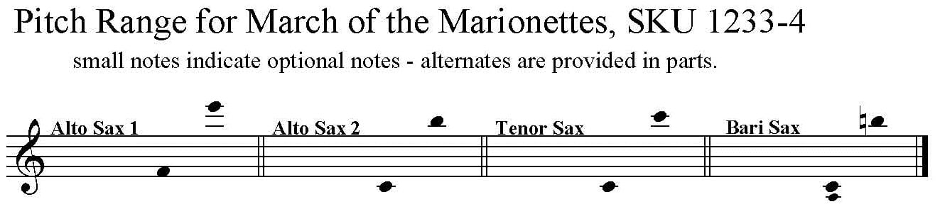 March of the Marionettes by Nicolai Amani for Saxophone Quartet