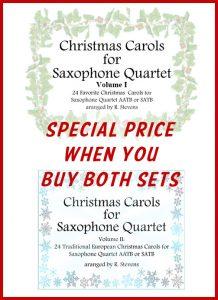 Saxophone Quartet Christmas Carols Volumes 1 and 2 - Special Offer