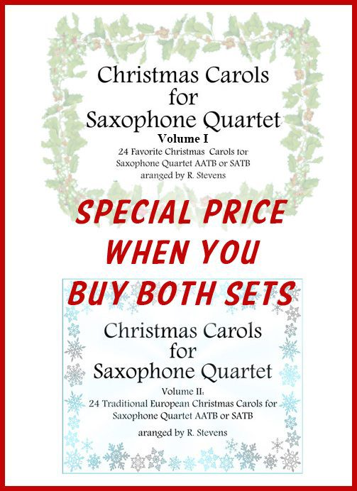 Saxophone Quartet Christmas Carols Volumes 1 and 2 - Special Offer
