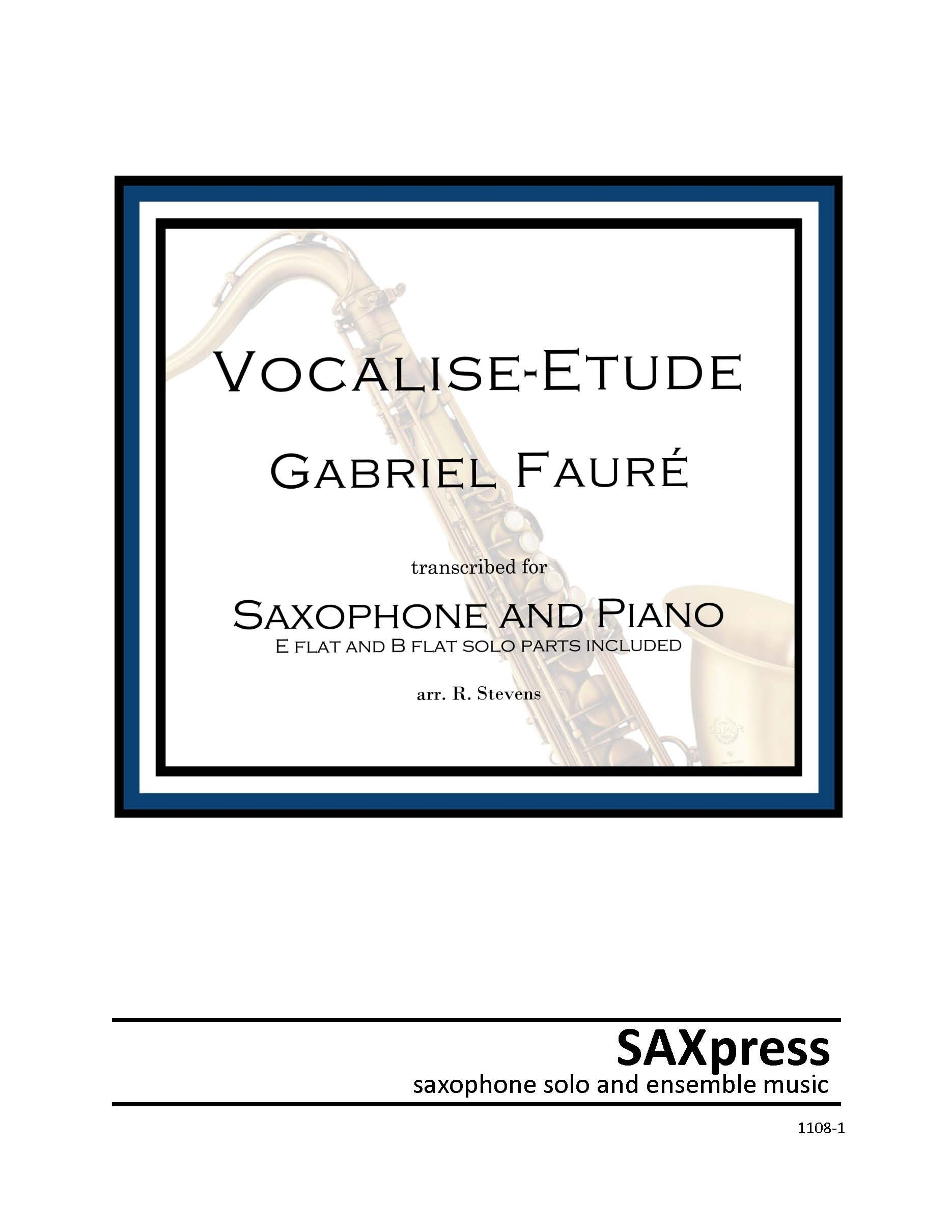Vocalise-etude by Faure for saxophone solo