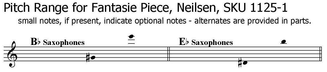 Fantasy Piece Romance, Neilsen - Soprano Sax Solo or Alto Sax Solo