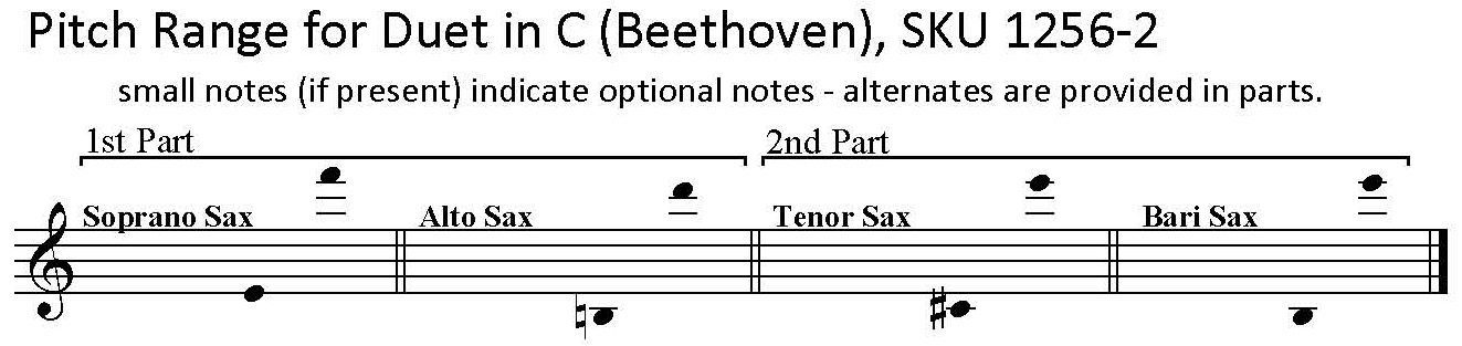 Duet in C, WoO. 27, No. 1, Beethoven, saxophone duet  any two saxes