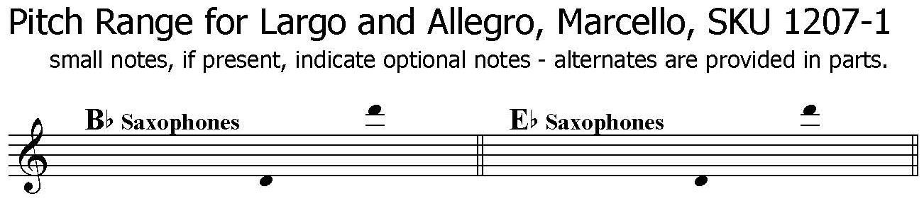 Largo and Allegro by Marcello for any saxophone solo with piano