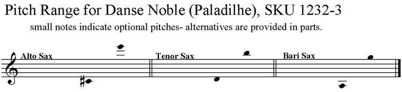 Danse Noble by Émile Paladilhe for Saxophone Trio ATB   SAXpress
