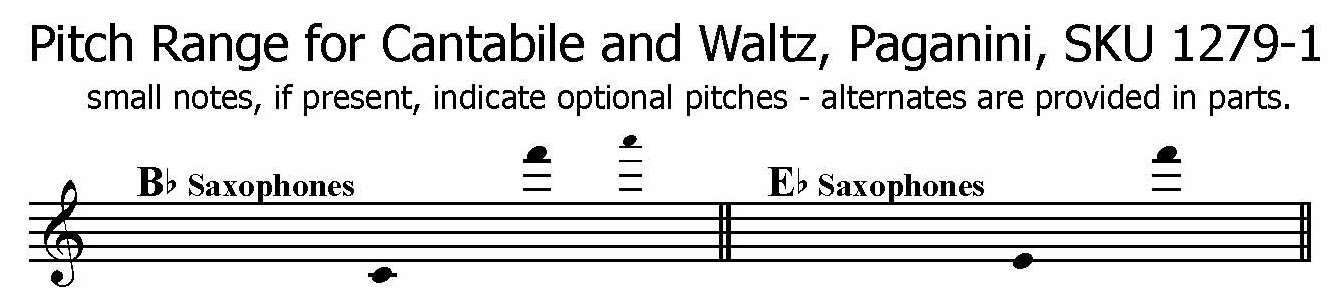 Cantabile and Waltz Paganini Any Saxophone solo with piano