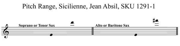 Sicilienne Jean Absil Any saxophone solo