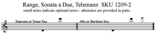 Sonata a Due - Telemann - Saxophone Duet