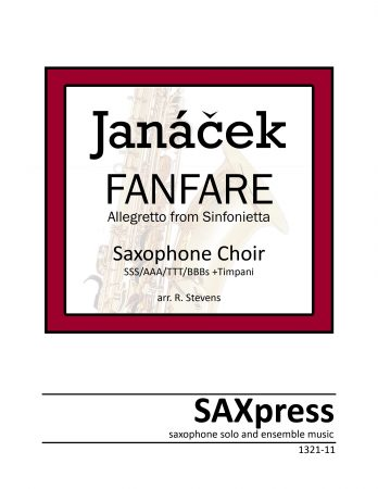 Fanfare from Sinfonietta by Leos Janacek for Saxophone Choir