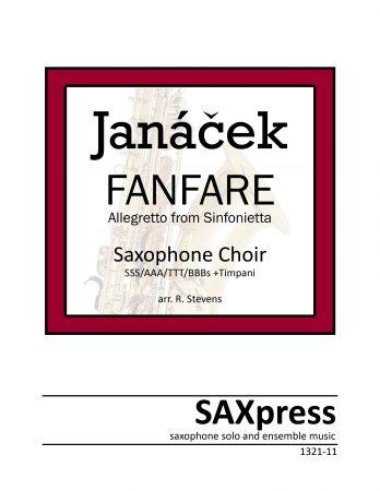 Fanfare from Sinfonietta by Leos Janacek for Saxophone Choir