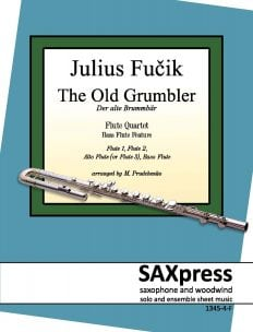 The Old Grumbler, by Julius Fučik for Flute Quartet - Bass Flute feature