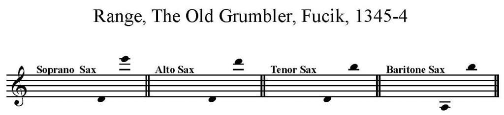 The Old Grumbler, by Julius Fučik for Sax Quartet SATB - Bari Sax feature
